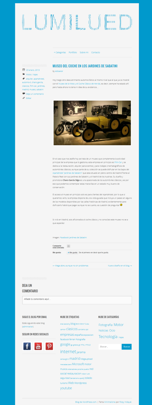 Nuevo Diseño Blog Lumilued