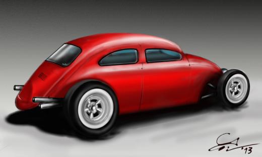 """VW Beetle estilo """"Hot Rod"""""""