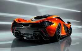 McLaren P1 Back Trasera Naranja