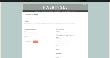 Halbinsel Design - Members Area 2014